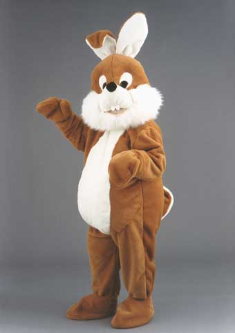 Silly Rabbit mascot costume