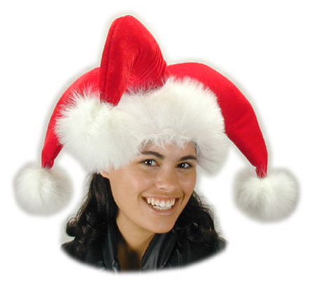 3 Pointed Christmas Jester hat