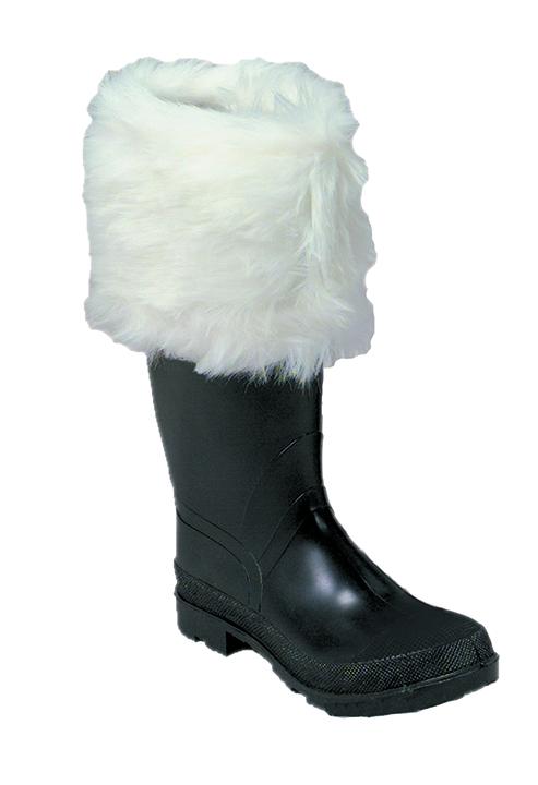 Luxurious Long-Hair Santa Boot Cuffs