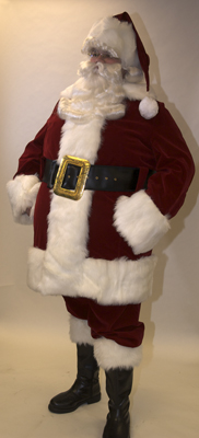 Velvet Santa Suit with Overalls