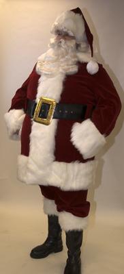 Velvet Santa Suit with Overalls