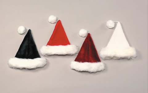 Top Quality Deep Pile Plush Santa Hat