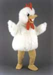 Fluffy Chicken Mascot Costume