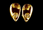 14k Gold Fangs with Diamond Inset