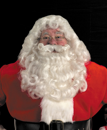 Santa Wig, Beard, &amp; Mustache -Professional