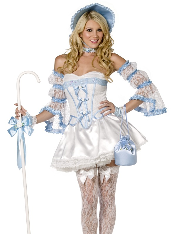"Four Piece ""Bo Peep"" Colonial Girl Costume"