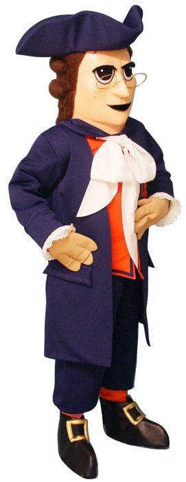 Deluxe Colonial Man mascot costume