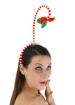Springy Mistletoe Headband