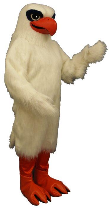Deluxe White Hawk mascot costume