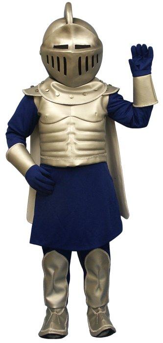 Deluxe Silver Knight Mascot Costume