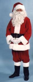 Good Quality Plush Santa Suit costume