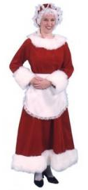 Velvet Mrs. Clause costume