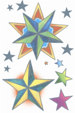 Vintage Star Temporary Tattoos