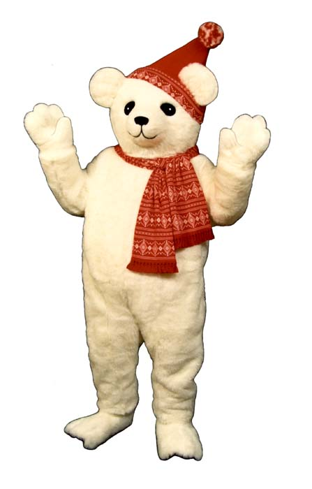 Snow Bear With Hat and Scarf