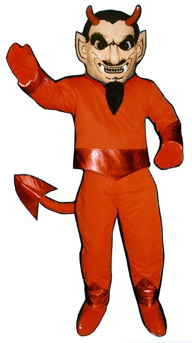 Deluxe Devil Mascot Costume