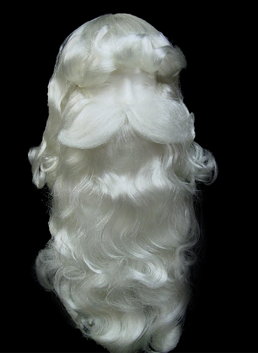 Santa Wig, Beard, &amp; Mustache - Deluxe quality