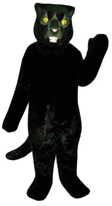 Deluxe Black Panther mascot costume
