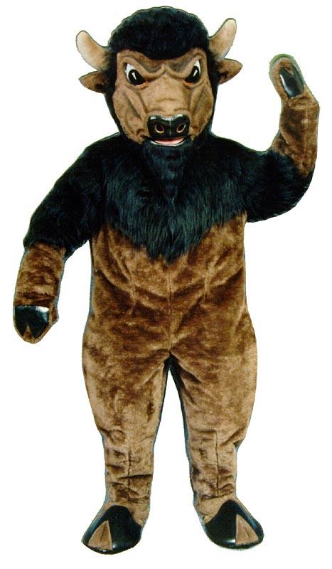 Deluxe Bison mascot costume