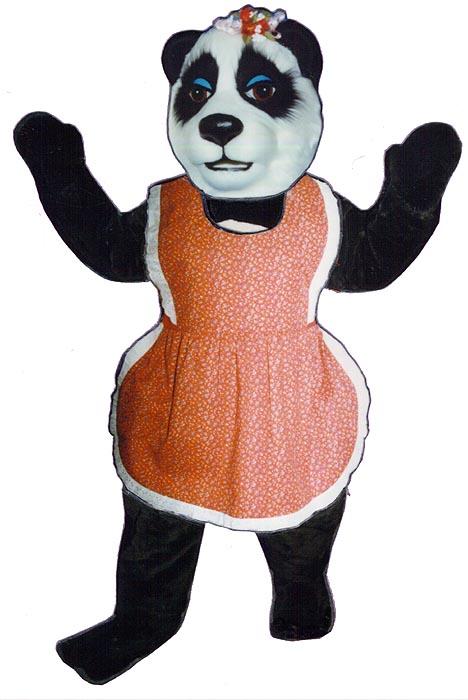 Mrs. Panda with apron