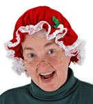 Mrs. Claus Mob Cap Hat
