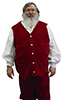 Velvet Santa Claus Vest with Gold Metal Buttons