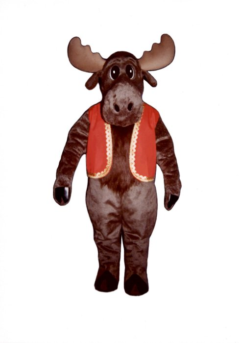 Milton Moose With Christmas Vest