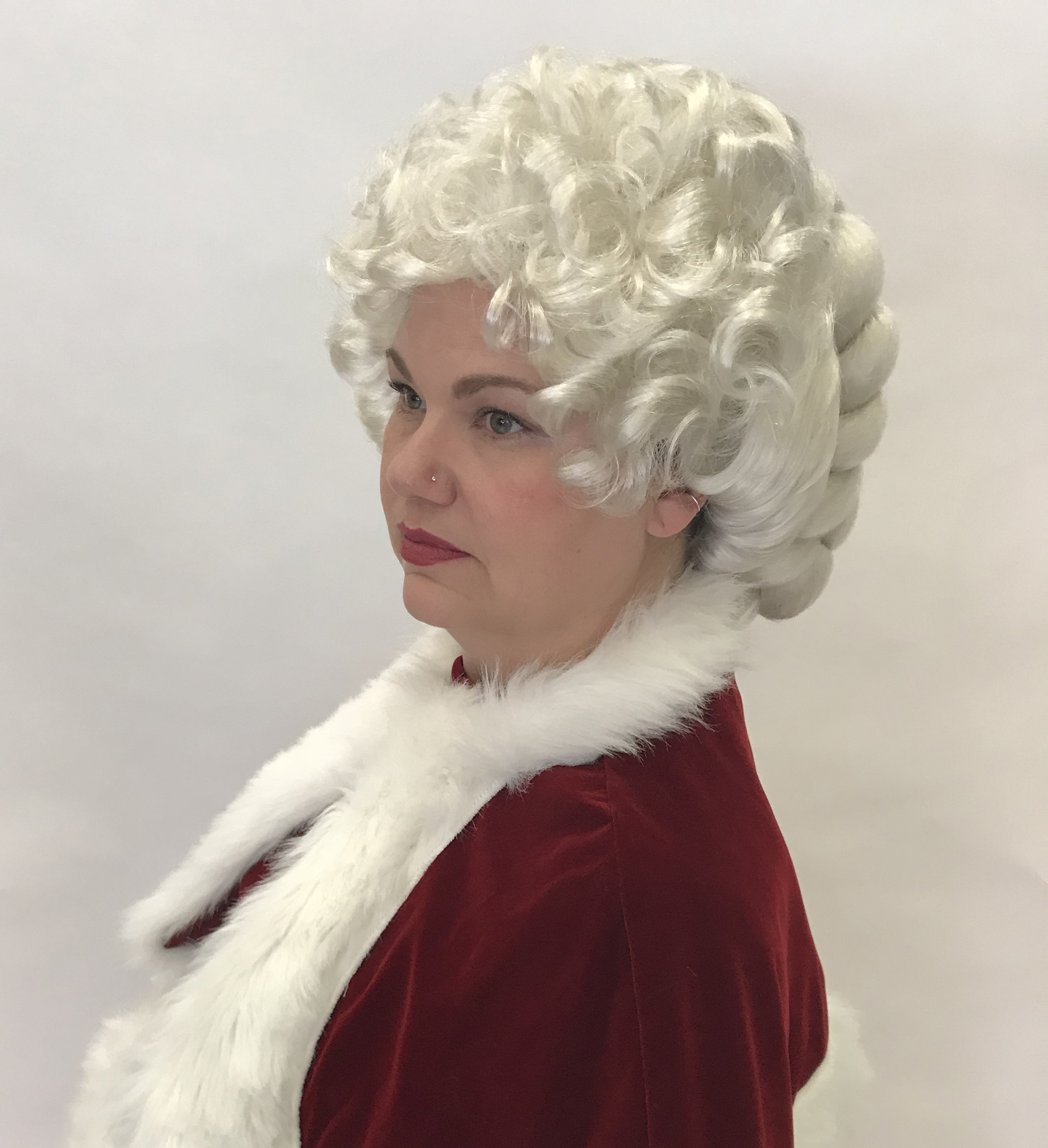 Full Braided Mrs. Claus Wig