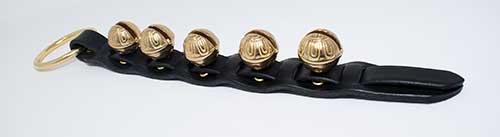 #2 Sized Premium Brass Bells on Leather Strap