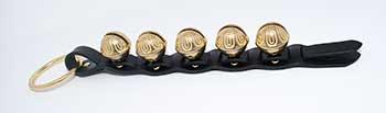 #4 Sized Premium Brass Bells on Leather Strap