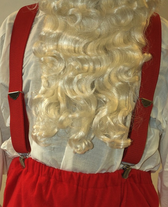 Heavy-Duty Red Santa Claus Suspenders