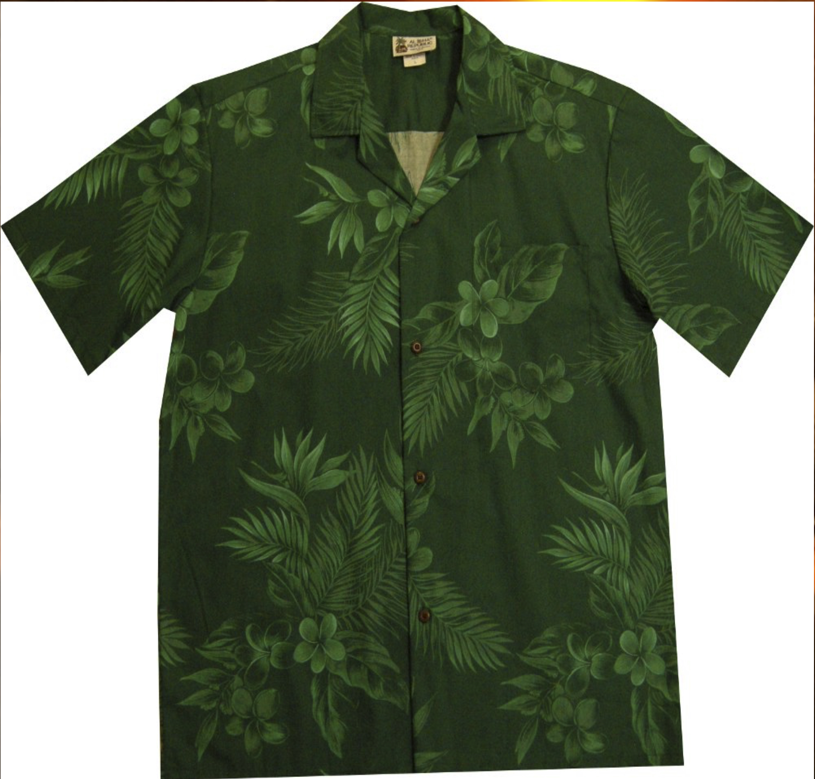 Green Floral Palm Leaf Hawaiian Shirt