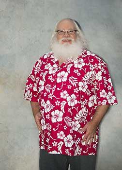 Red Hibuscus Santa Shirt