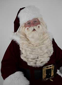 Santa Wig, Beard & Mustache - Yak With Separate Lace Mustache