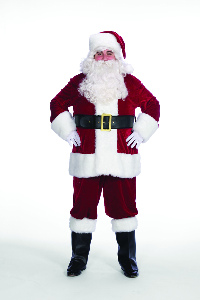 Good Quality Velveteen Santa Claus Suit