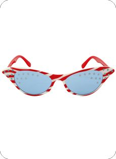 Patriotric 50's Glasses