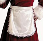 Satin Apron - Mrs Claus