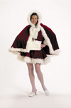 Velvet Cape and Muff Set